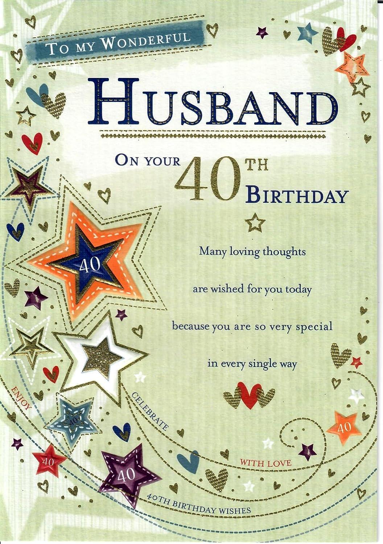 Para mi maravilloso marido en tu 40 cumpleaños Impresionante ...