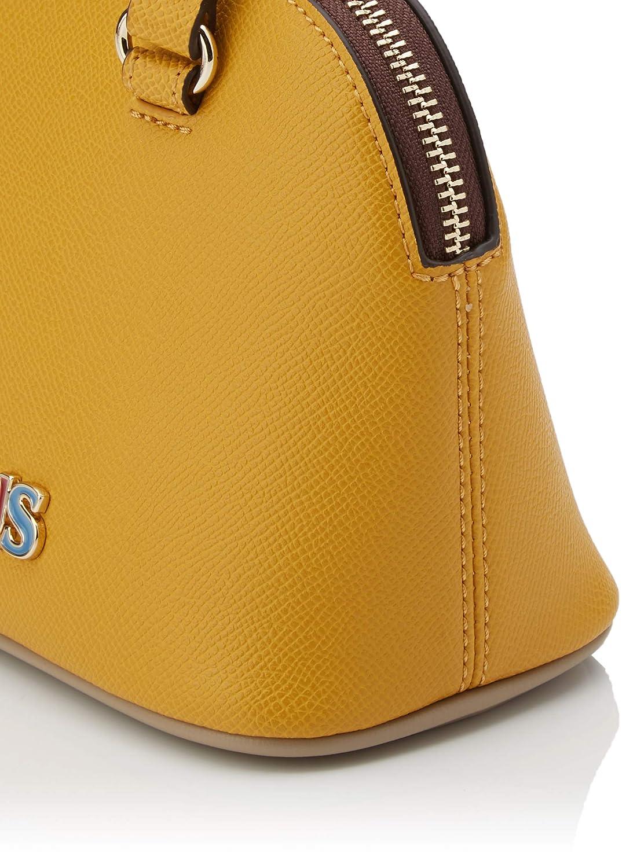 TOUS dam bowling mini ny Essence väska, 19 x 14,5 x 10 centimeter Flerfärgad (Mostaza Topo 995900795)