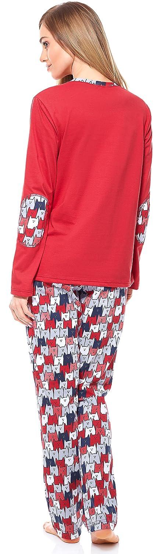 Merry Style Pijama Conjunto Camiseta y Pantalones Ropa de Cama Mujer MS10-169