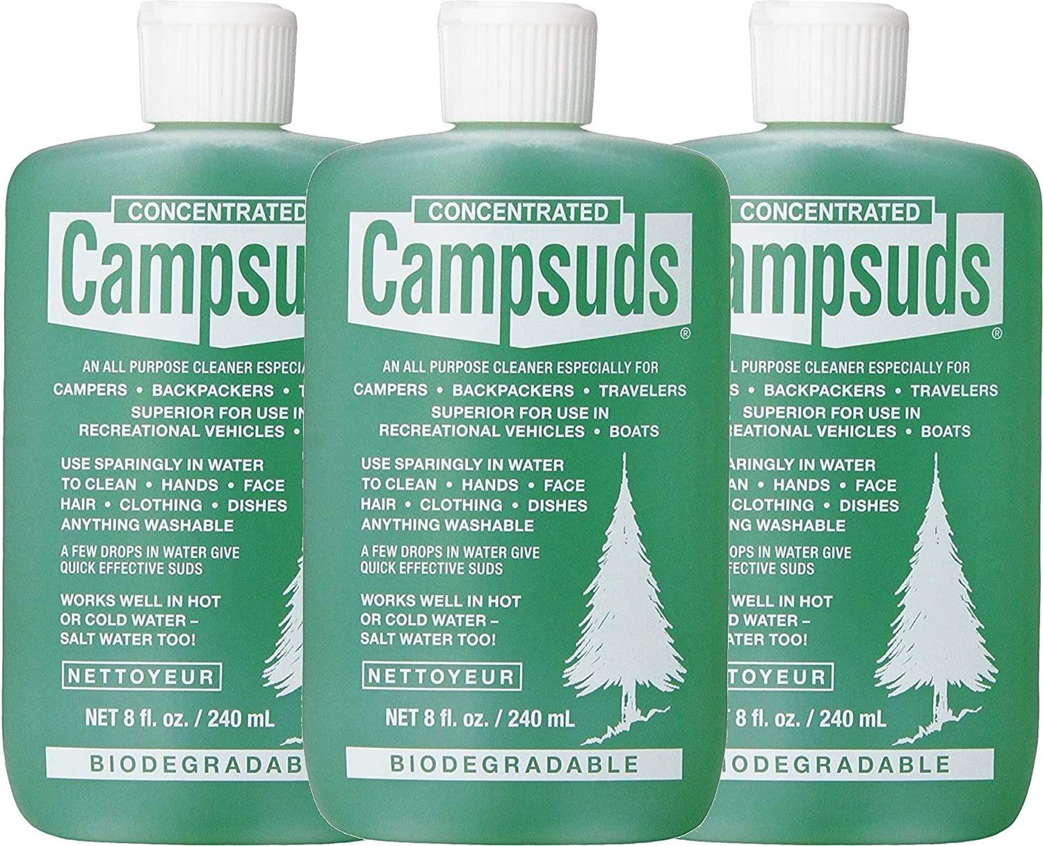Sierra Dawn Campsuds Outdoor Soap Biodegradable Environmentally Safe All Purpose Cleaner, Camping Hiking Backpacking Travel Camp, Multipurpose