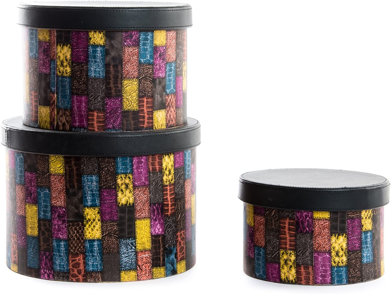 Item Set de Cajas, Cartón, Multicolor, 30x22x22 cm: Amazon.es: Hogar