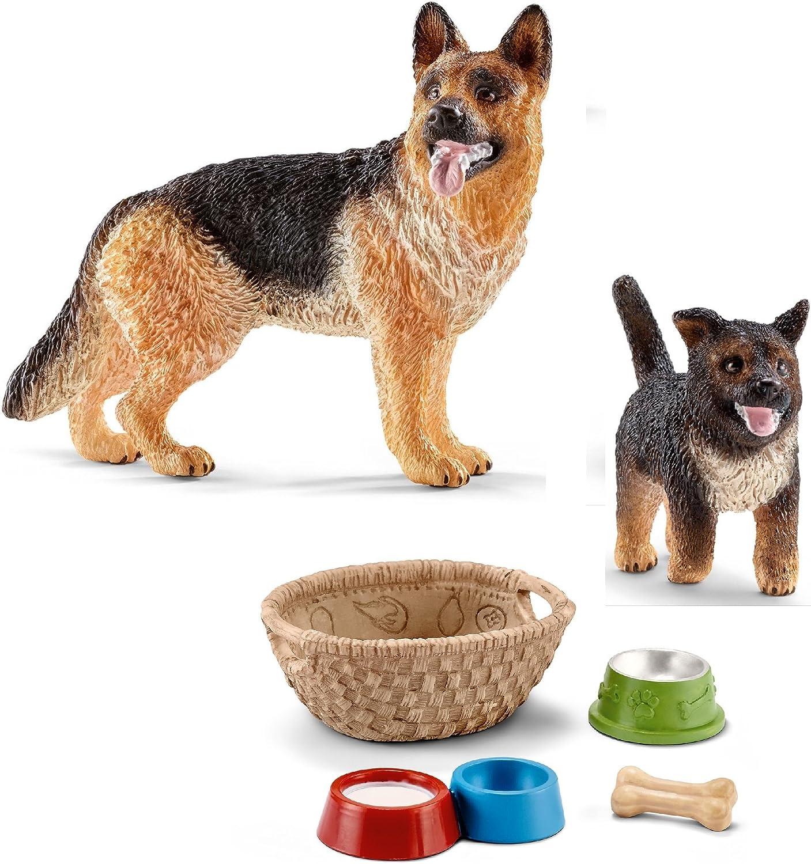 Schleich Tiere 16343 Schäferhund Welpe Hunde in OVP mit Fähnchen Rarität Sammler
