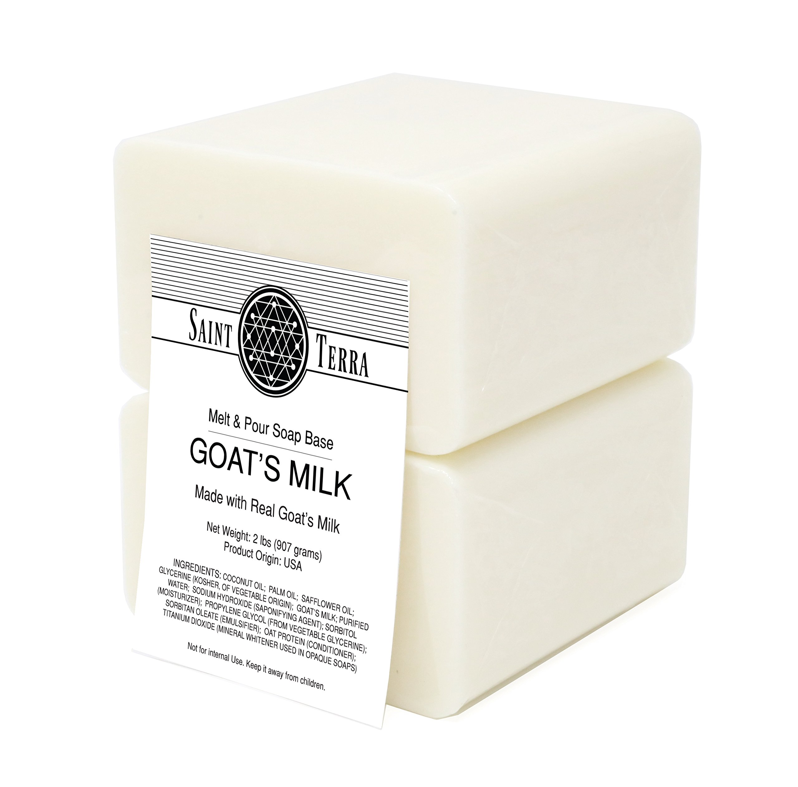 Saint Terra - Goat's Milk 2 Lbs Melt & Pour Soap Base