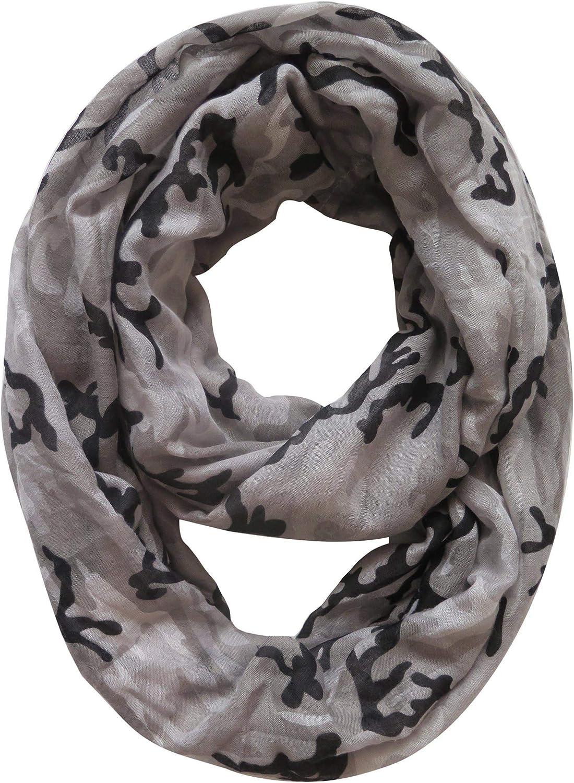 ACU Digital Camo Lina /& Lily Camouflage Print Infinity Loop Scarf Lightweight
