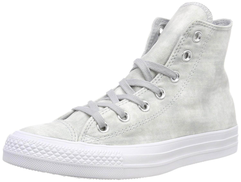 Converse Unisex-Erwachsene CTAS Hi Fitnessschuhe  42 EU|Grau (Wolf Grey/Wolf Grey/White 097)