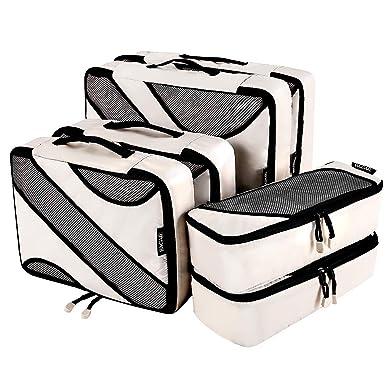 fd2e65405088 Amazon.com | 6 Set Packing Cubes, 3 Various Sizes Travel Luggage ...