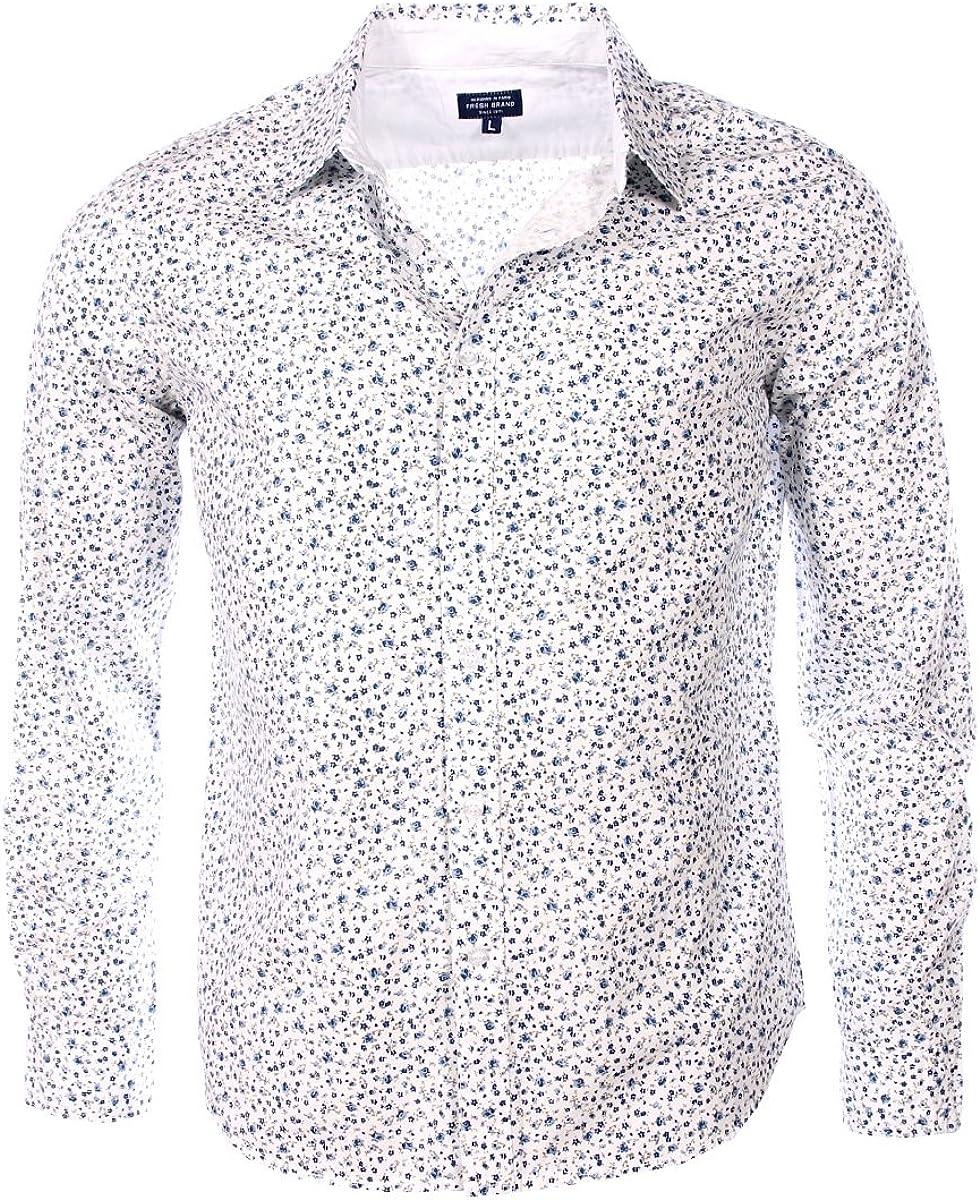 The Fresh Brand - Camisa de vestir - cuello inglés - Manga ...