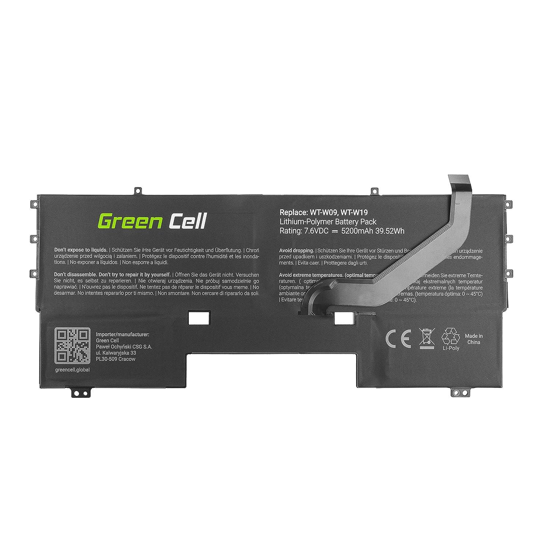Green Cell® HB54A9Q3ECW Batería para Huawei MateBook X WT-W09 WT-W19 Ordenador (5200mAh 7.6V Negro): Amazon.es: Electrónica