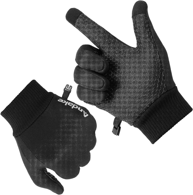 Men/'s Women/'s Touch Screen Winter Gloves Warm Fleece Lightweight Outdoor Sports