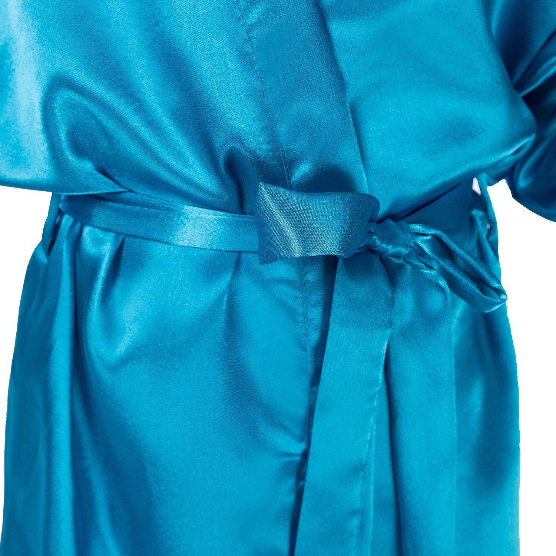 Hammia Ni/ños Ni/ña Robe Satin Vestido de ni/ña de Las Flores Albornoz de Seda para ni/ños Color Puro Robe Albornoz Ropa de Dormir SPA nataci/ón cumplea/ños