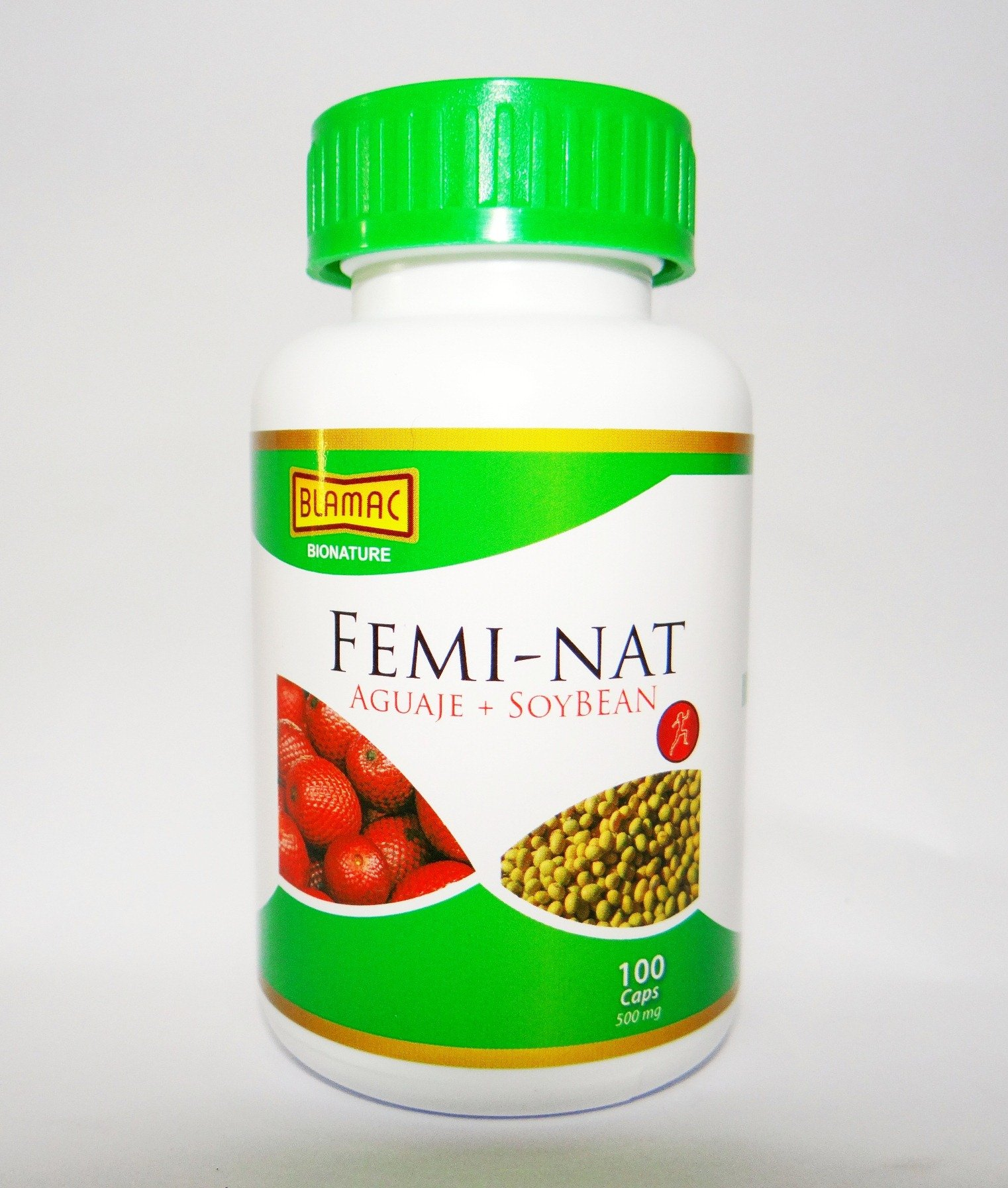 Femi - Nat''Aguaje + Soybean'' - Best Female Hormone - Rich in Phytoestrogens. One of Nature's best Women's health enhancer - 100 Capsules of 500 Mg.