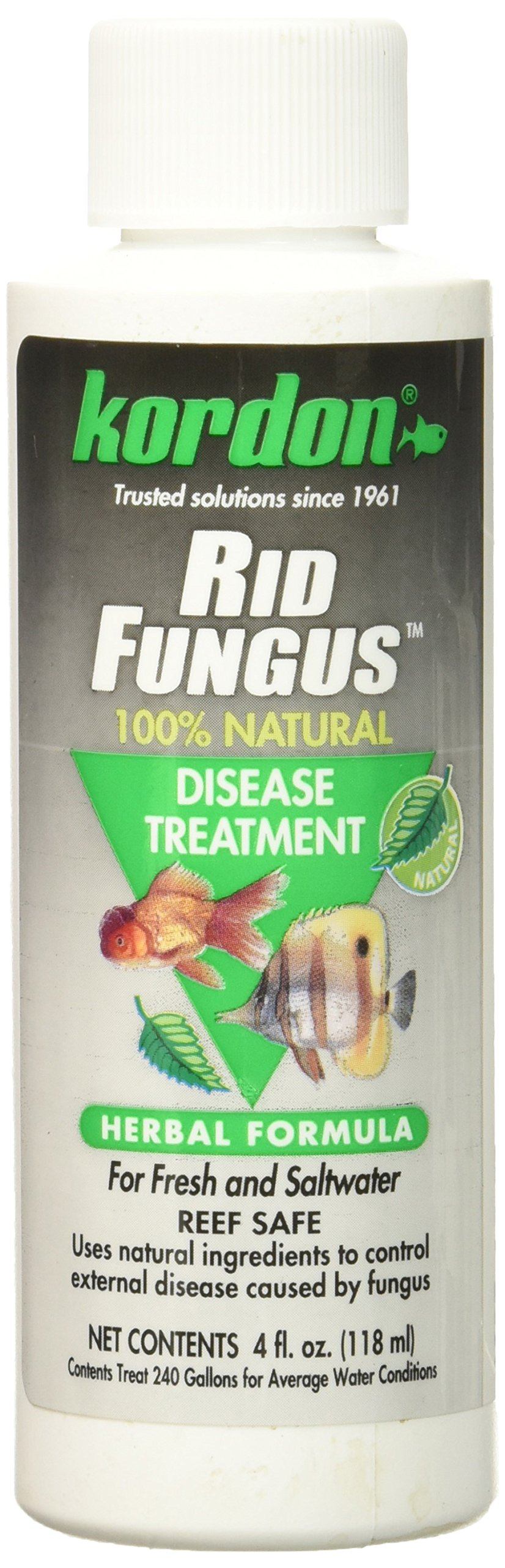 KORDON  #39844  Rid Fungus for Aquarium, 4-Ounce
