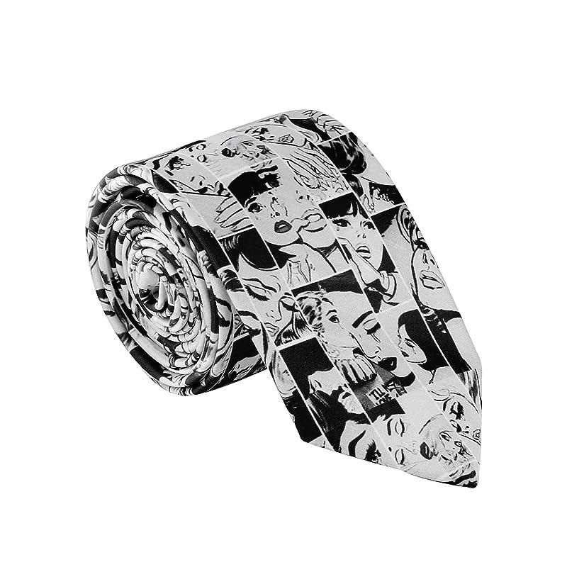 Quirky Suit Accessories Retro Colour Block Graphic Tie Cosplay Costume Tie Vintage Print Statement Tie Fun Groomsmen Tie