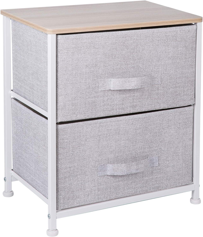 ARCALT Braun Aufbewahrungsbox aus Vilesstoff mit 2 Schubladen f/ür Zuhause und B/üro