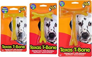 product image for Fido (3pcs Multi Size Pack) Texas T-Bone Dental Dog Bones, Includes 1-Small, 1-Medium, and 1-Large