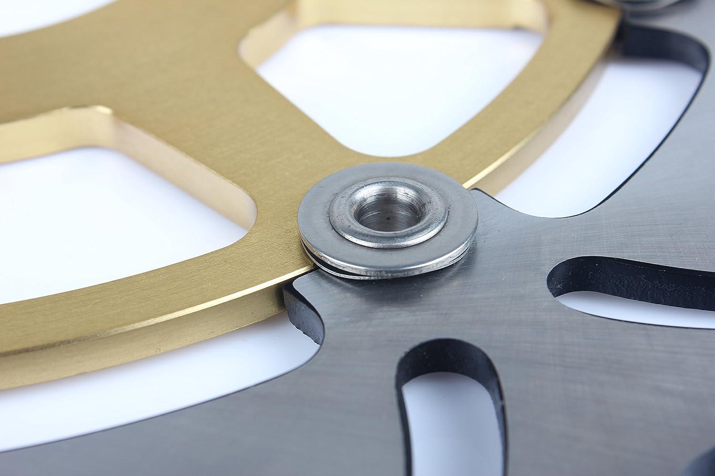 TARAZON Rotores de discos de freno delanteros y trasero para SUZUKI SV 1000 S 1000 SV1000S 2003-2007 Gold