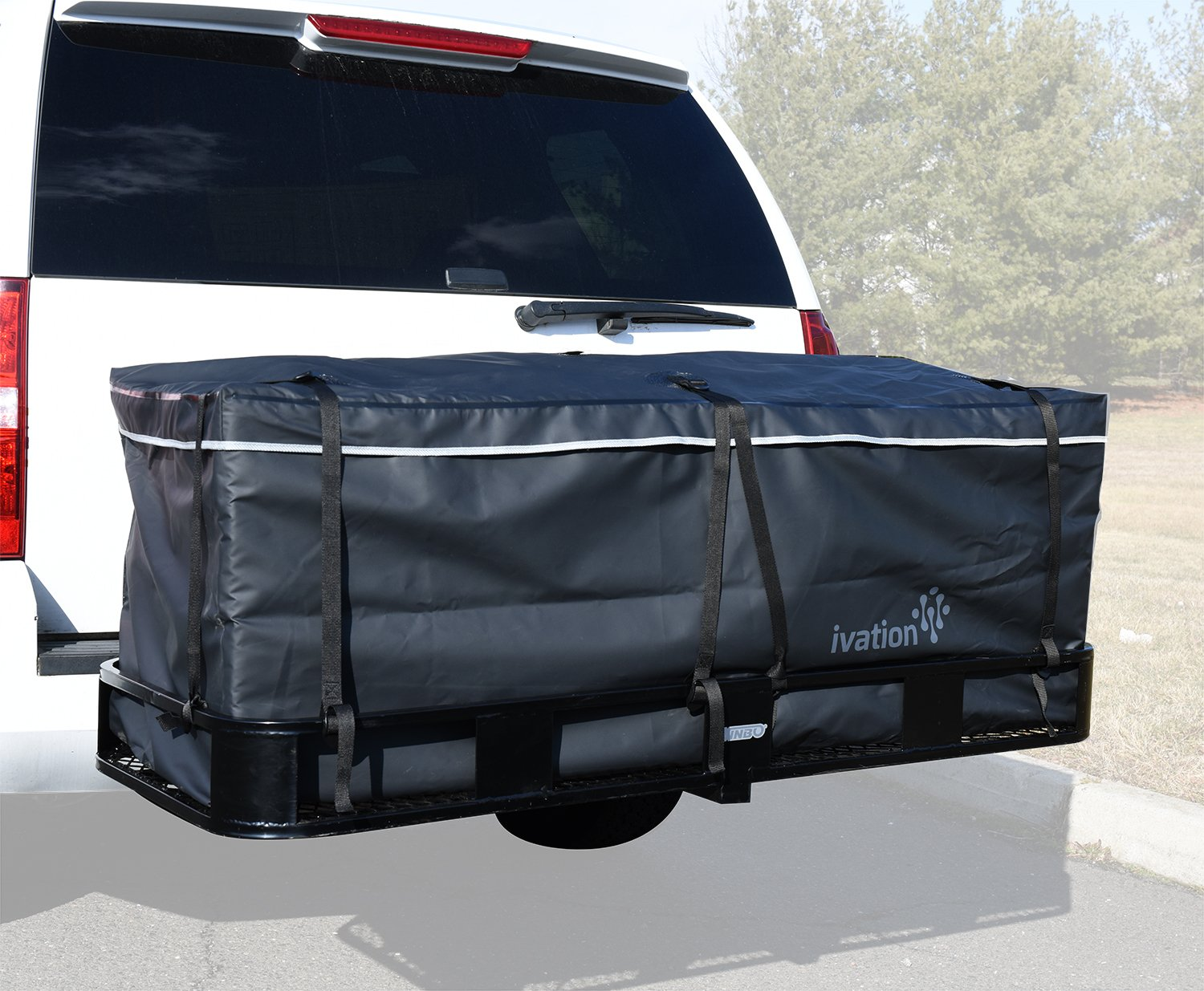 Hitch bag - 100% Waterproof Large Hitch Tray Cargo carrier bag 60'' x 24'' x 24'' (20 Cu Ft) by Ivation