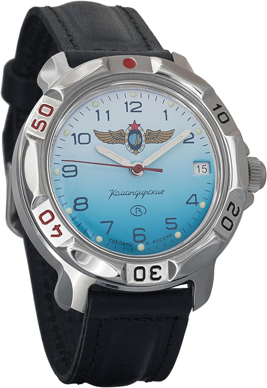 Vostok Komandirskie Russian Space Forces Mechanical Mens Military Wrist Watch 811958