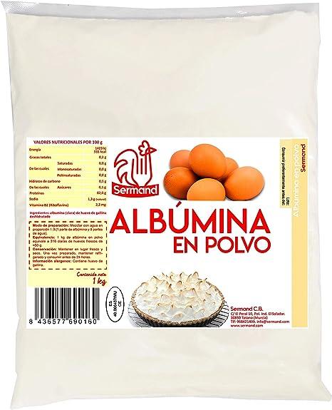 CLARA DE HUEVO EN POLVO 1KG (ALBUMINA): Amazon.es: Alimentación y ...