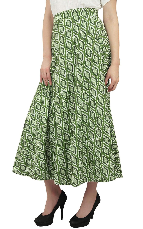 Phagun Use Verano Ikat Impreso Reversible Falda del Abrigo de ...