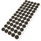 60 Feltrini, Ø 14 mm, marrone, di spessore 3.5 mm, Mobili scivola - protezione antigraffio, autoadesiva - feltro autoadesiva - di alta qualità, tondo Ø 14 mm (1x60)