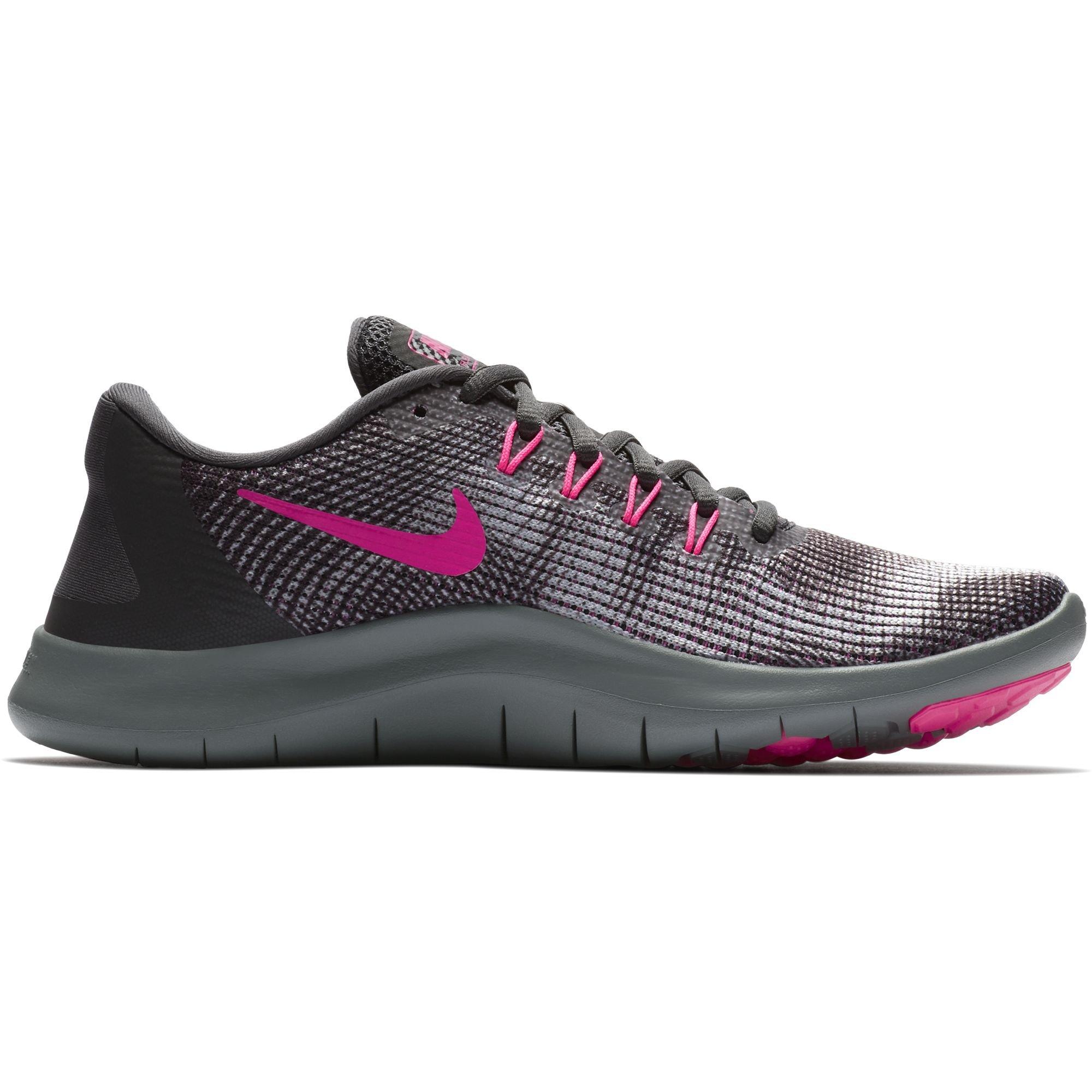 671678c4ee51 Galleon - NIKE Women s Flex RN 2018 Running Shoe Anthracite Hyper Pink Wolf Grey  Size 11 M US