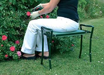Outsunny Folding Garden Kneeler Kneeling Bench Chair Green