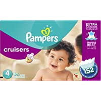 152-Count Pampers Cruisers Disposable Diapers Size 4