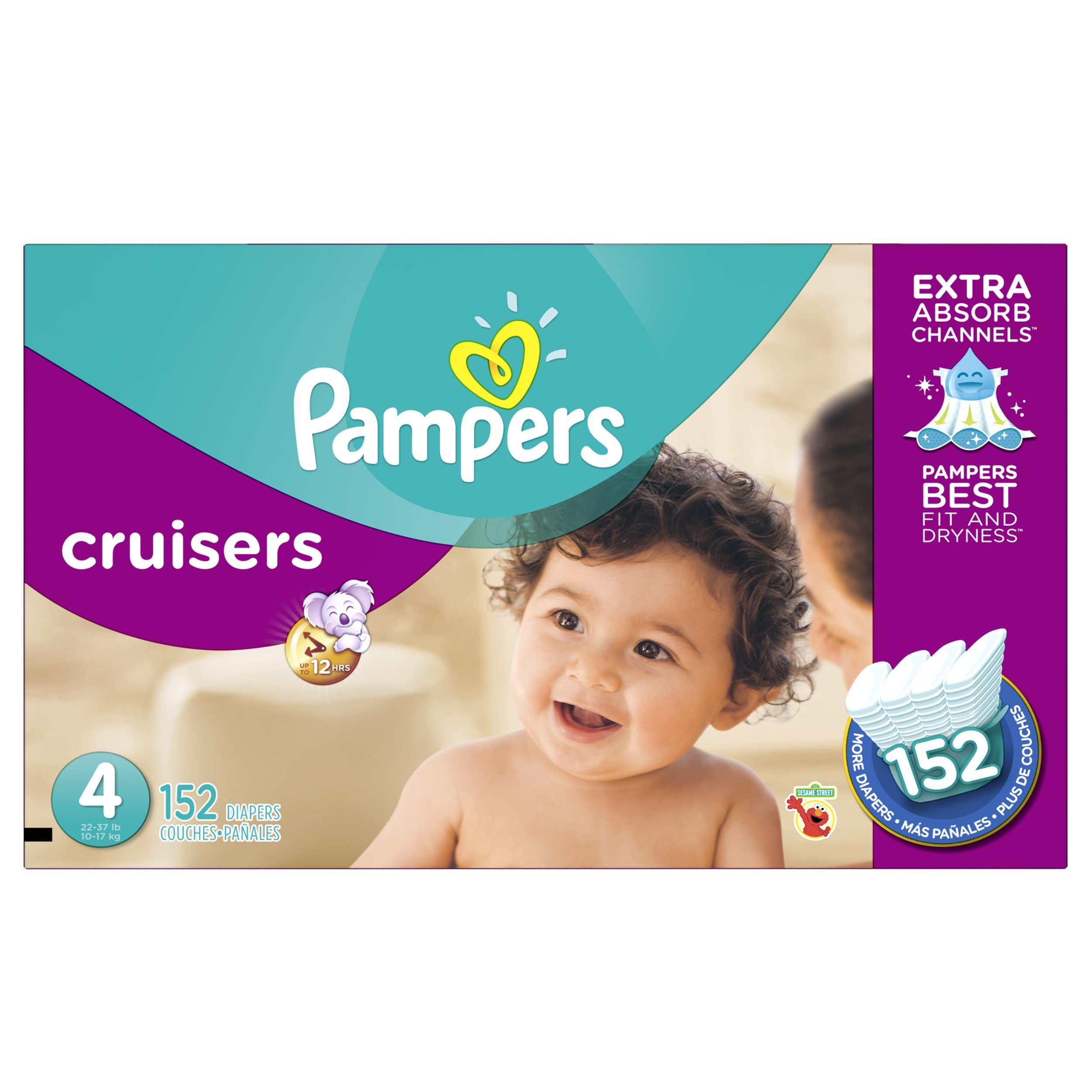 Pampers Cruisers Diapers Size 4 152 Count (old version) by Pampers