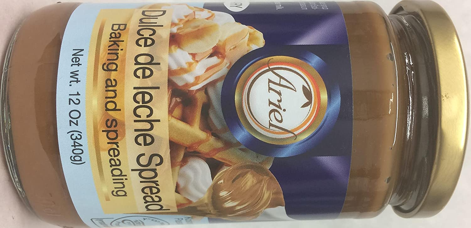 Amazon.com : Ariel Dulce De Leche Spread Kosher For Passover 12 Oz. Pack Of 3. : Grocery & Gourmet Food