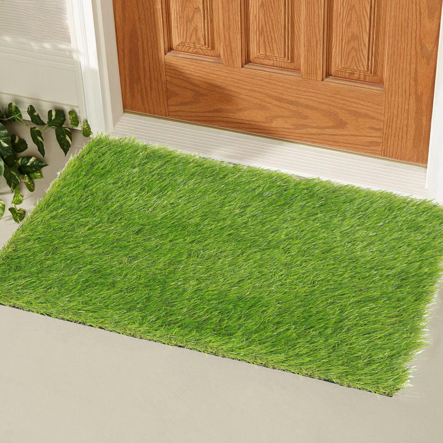 ECOMATRIX Artificial Grass Dog Training Mat Large Pet Turf Litter Lawn Pad Soft Synthetic Grass Area Rug Green Washable Fake Grass Carpet for Indoor Outdoor Kennel 39inch x 59inch