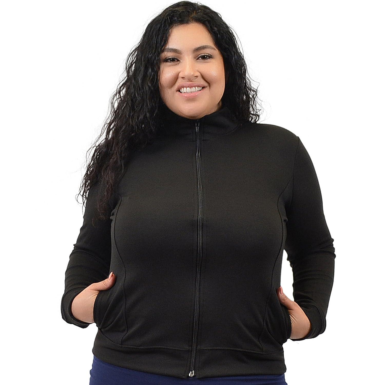 Stretch is Comfort Women's Plus Size Cheer Dance Cotton Warm Up Jacket J3032CTJCKTPS-$P