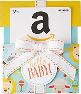 Gift Card in a Hello Baby Reveal (Classic White Card Design)