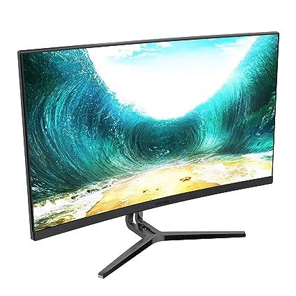 ee51ef2b374c Amazon.com: VIOTEK NB24CB 24-Inch LED Curved Monitor with Speakers,  Bezel-Less Display, 75Hz 1080P Full-HD FreeSync VGA HDMI VESA - Xbox Ready  (Black): ...