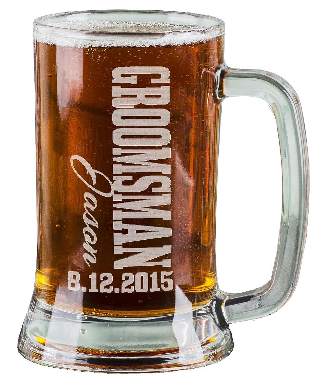 Amazon.com   One 16 Oz Groomsmen Beer Mug Wedding Party Gifts for ...