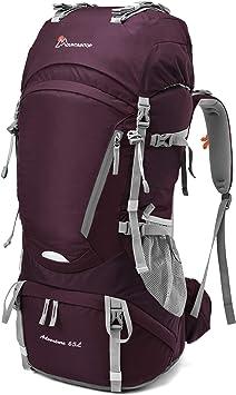 MOUNTAINTOP 55L/65L Mochila Trekking Hombre Mujer Mochila de Senderismo Gran Capacidad Mochilas de Montaña con Cubierta de Lluvia para Escalada Viaje ...