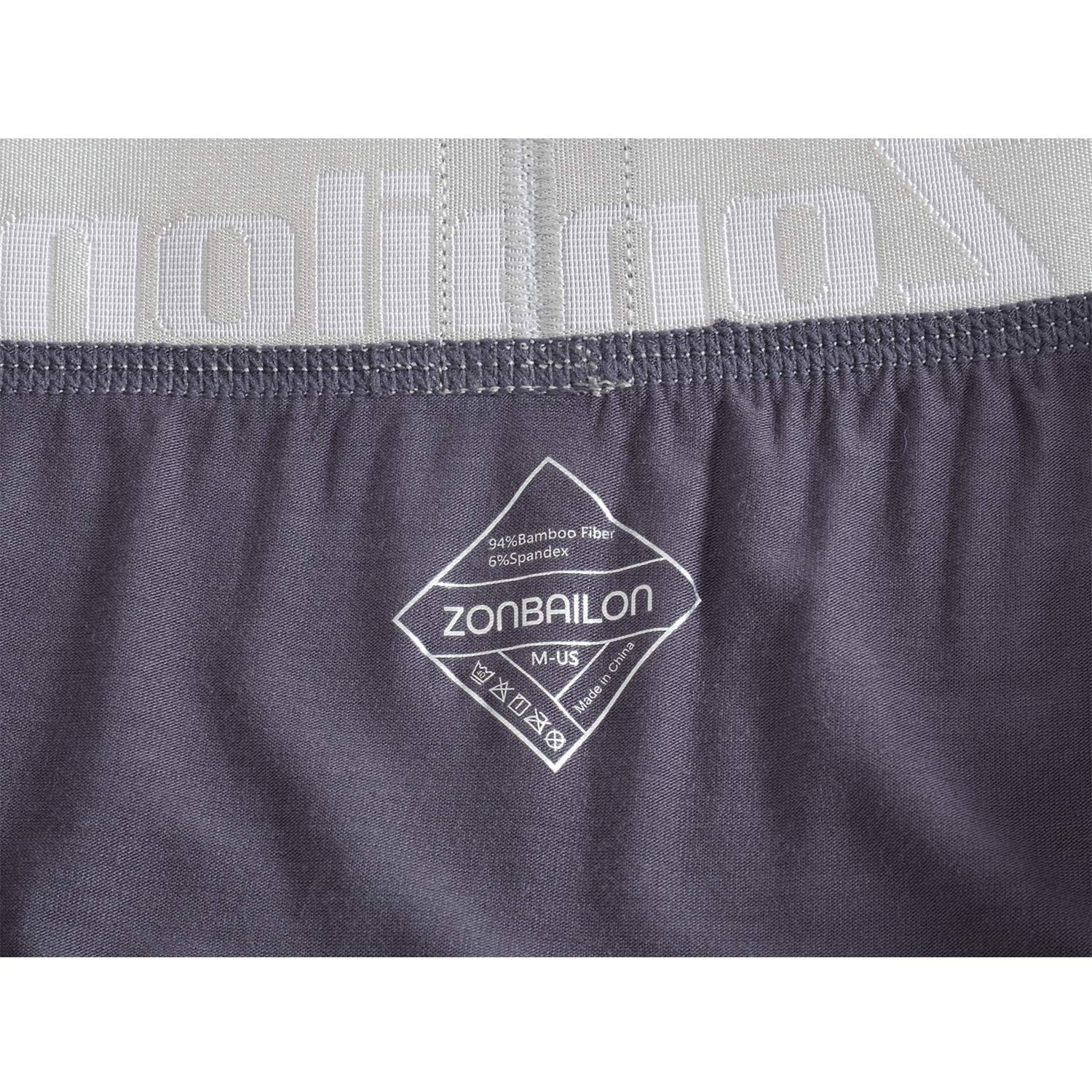 Mens Underwear Bamboo Boxers Breathable Running Underpants Boxer Briefs for Men Pack