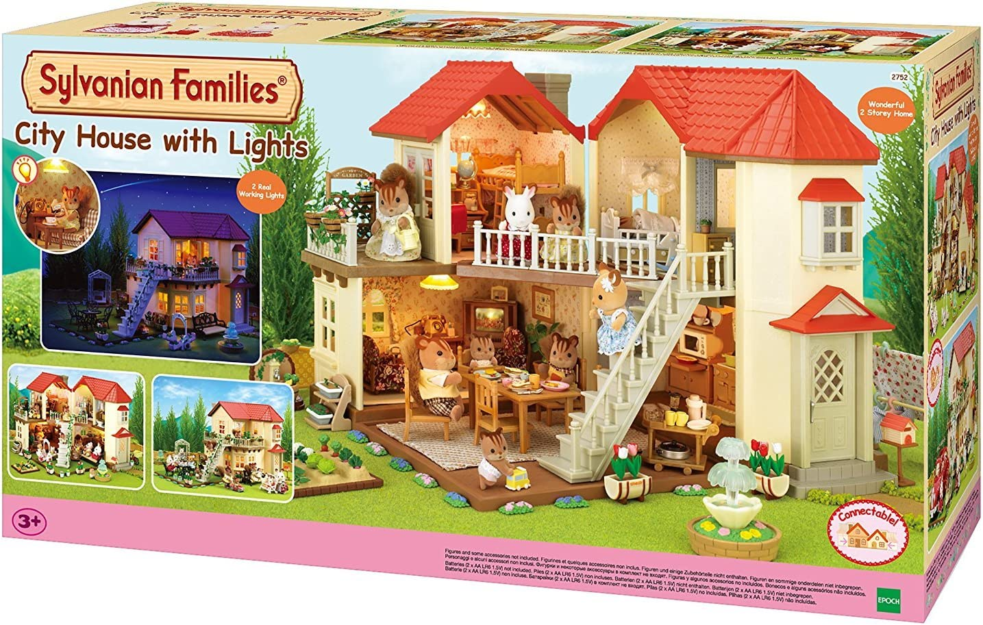 Sylvanian Families 9 City House with Lights, Multicolor