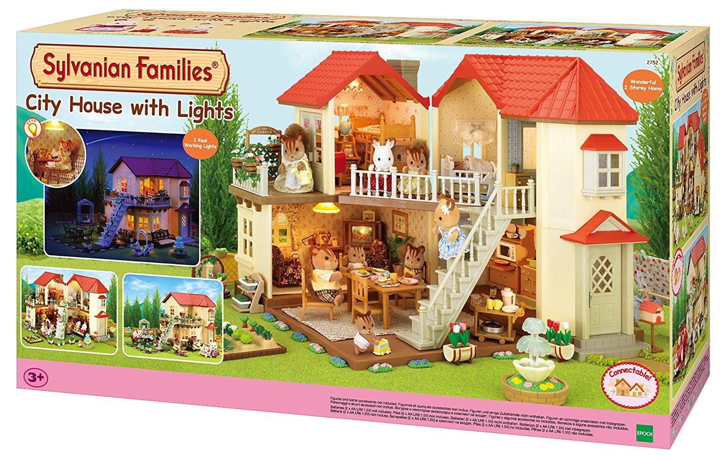 Sylvanian families 2752 city house with lights multicolor amazon co uk toys games