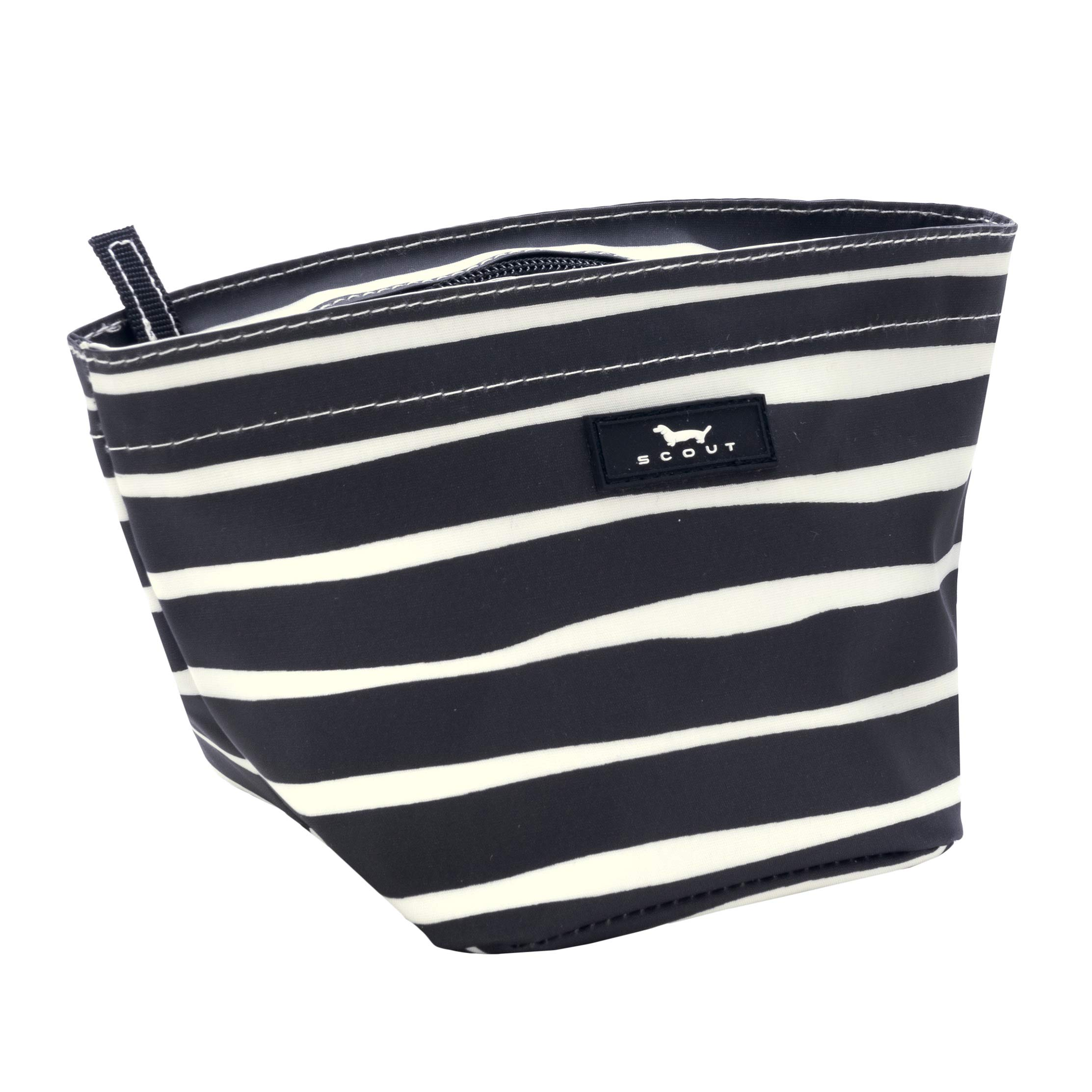 SCOUT Crown Jewels Cosmetic, Makeup & Small Accessory Bag, Water Resistant, Zips Closed, Ren Noir