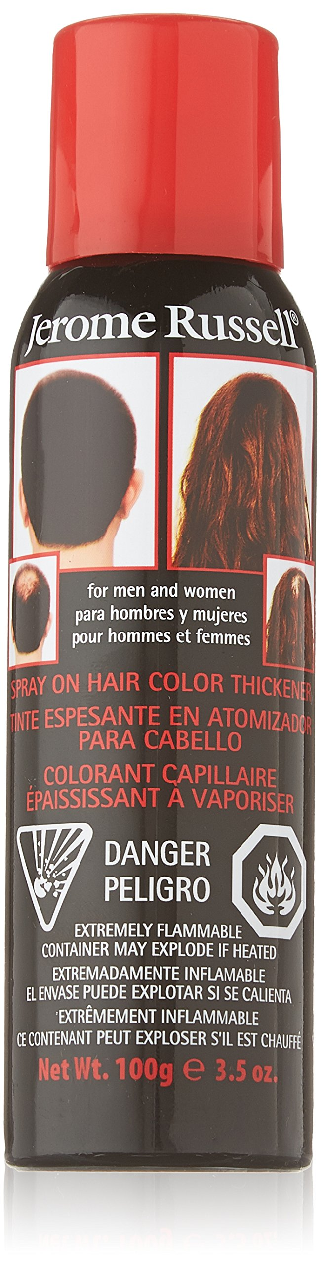 Amazon Jerome Russell Spray On Color Black Hair Thickener 35