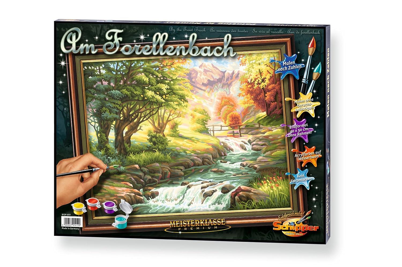 Noris Spiele Schipper 609130412 - Malen nach Zahlen - Forellenbach ...