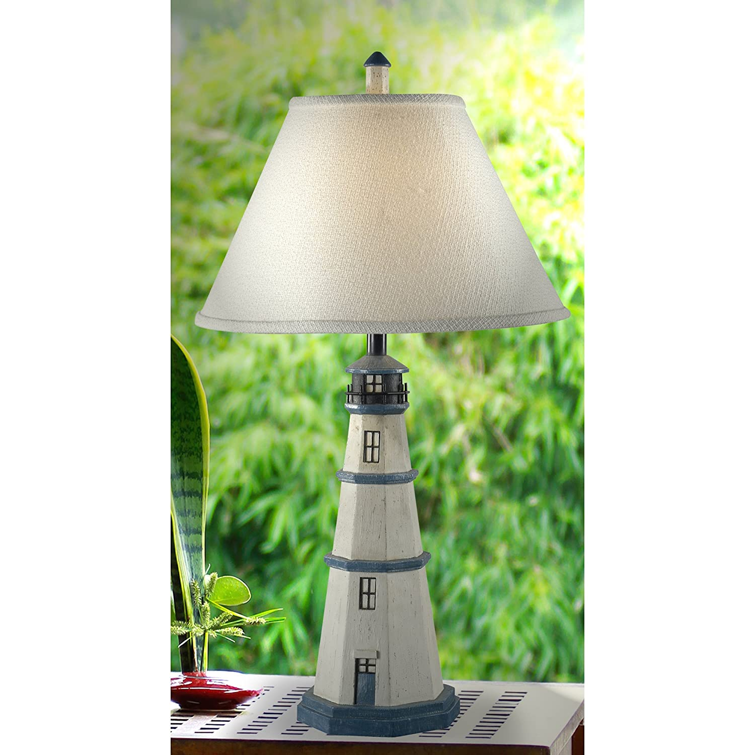 Cottage lighthouse lamp 3 colors - Kenroy Home 20140aw Nantucket Table Lamp Antique White Lighthouse Lamps Amazon Com