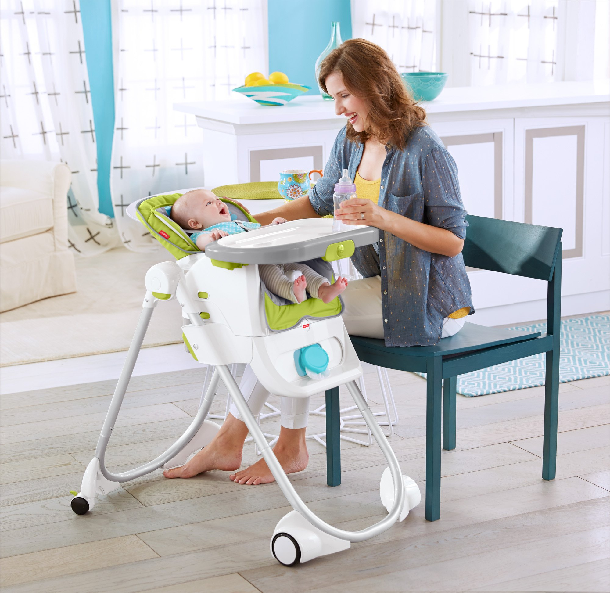 Fisher-Price 4-in-1 Total Clean High Chair, Green/Gray by Fisher-Price (Image #13)