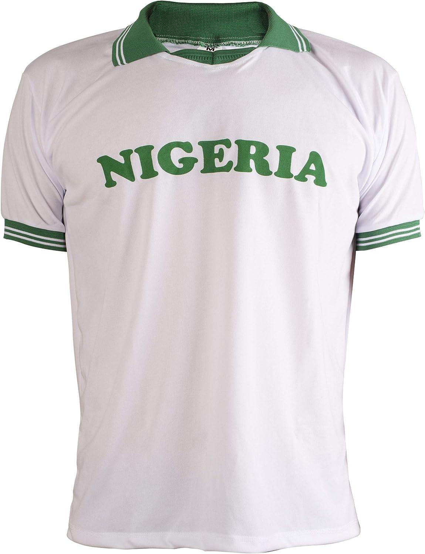 JL Sport 1988 Nigeria Camiseta Retro Fútbol Hombrega Corta para ...