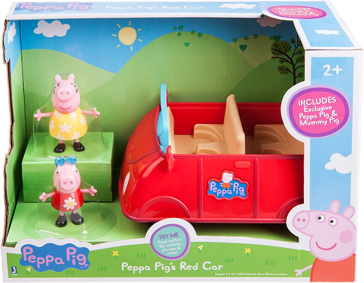 Little Red Car With 2 Exclusive Figures Mom /& Peppa Complete Set Peppa Pig