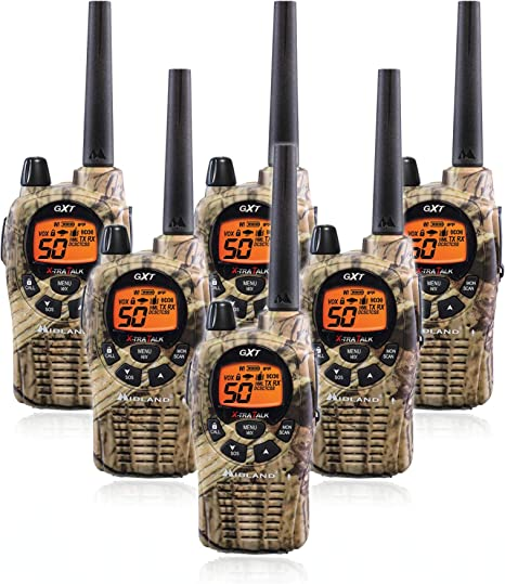 NEW Midland 50-Channel 36-Mile FRS//GMRS 2//Two-Way Radio Walkie Talkie NOAA//Camo