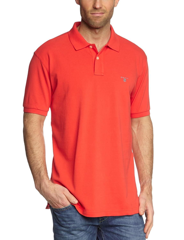 GANT Herren Poloshirt Solid Pique SS Rugger Duetz Fashion 2201