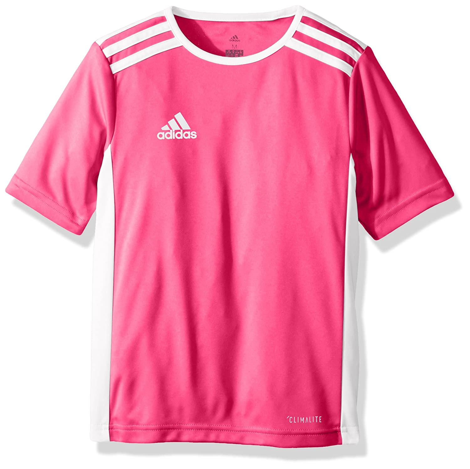 Adidas エントラーダジャージー 男子用 サッカー 18。 B072KPZHRL Small|Shock Pink/White Shock Pink/White Small