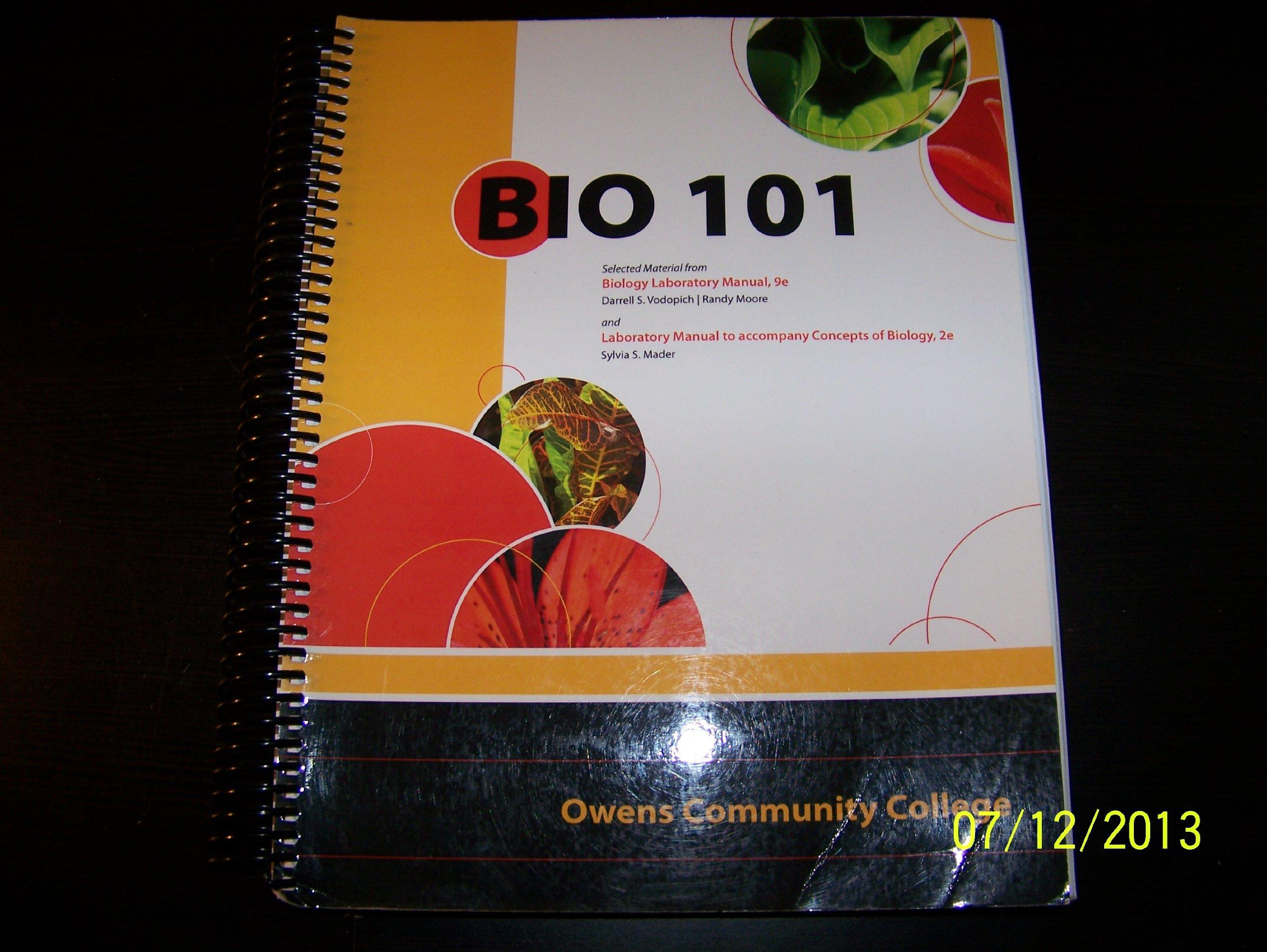 Owens Community College Bio 101 Lab Manual: Darrell S. Vodopich, Randy  Moore, Sylvia S. Mader: 9780077496272: Amazon.com: Books